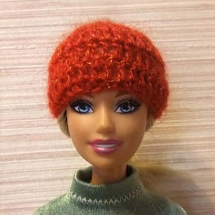 вязание шапок из мохера.