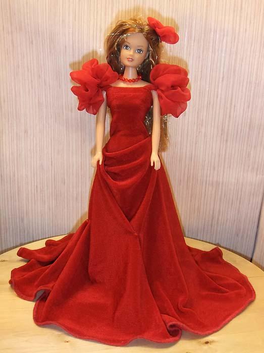 Вечернее платье для кукол барби своими руками 186