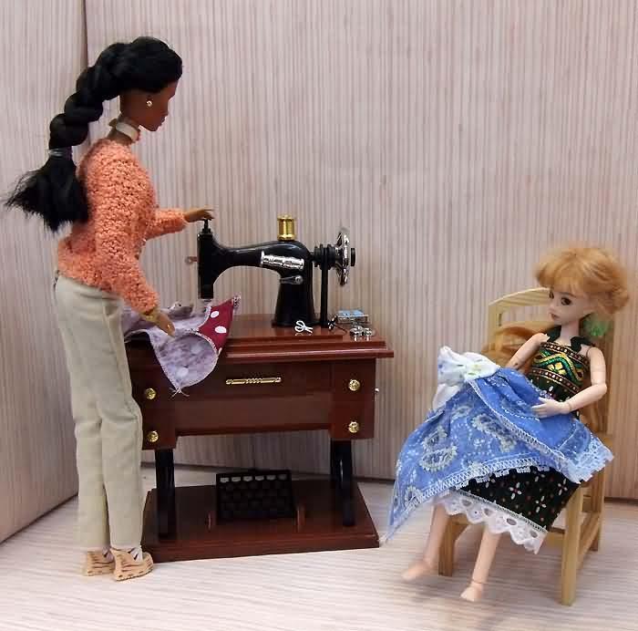 Швейная машинка для кукол своими руками