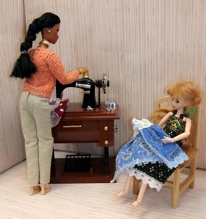 Швейная машинка для кукол своими руками 153