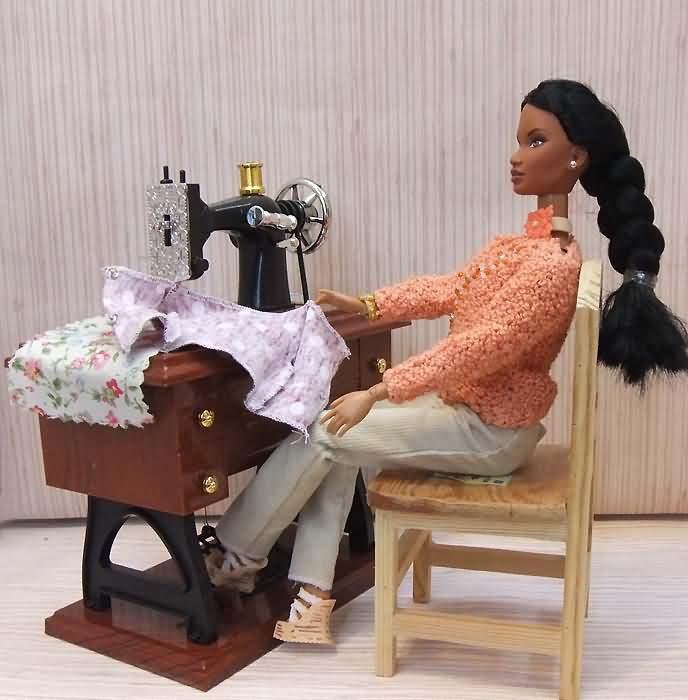 Швейная машинка для кукол своими руками 696