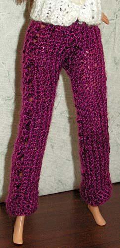 вязаные брюки крючком