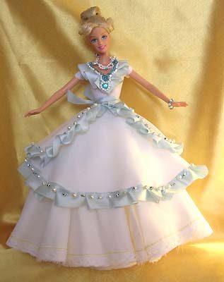 Бальное платье на куклу барби