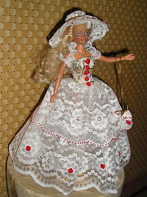 Как сшить платье из ленточек для куклы