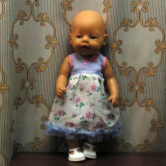 Платье для пупсика своими руками 35
